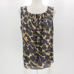 Lafayette 148 sleeveless blouse animal print top 8